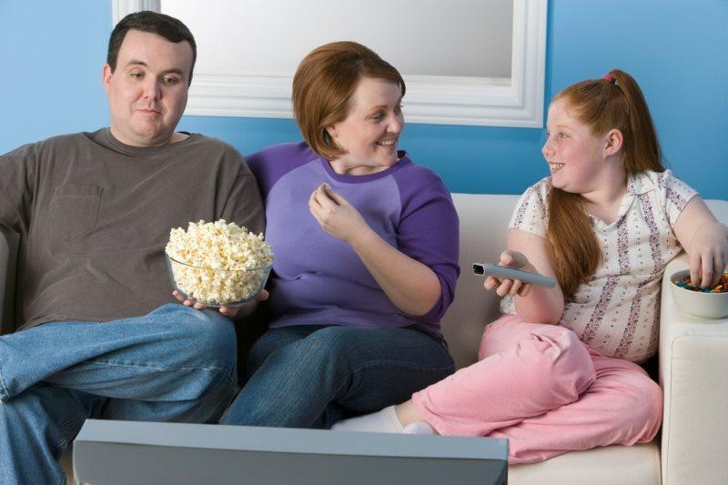 семья толстяков
